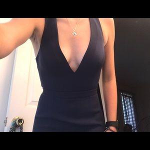 Prom/long navy blue dress